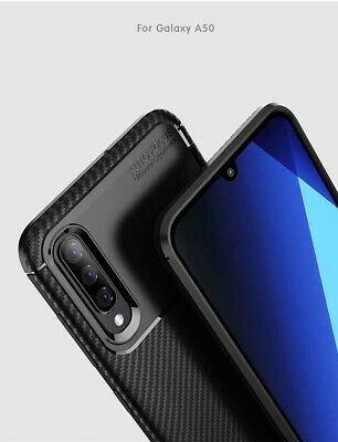 For Samsung Galaxy A30 A50 Matte Frosted Protective TPU Back Cover Carbon Case 6