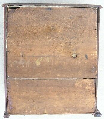 18/19 Century Delicate Early American Primitive Hanging Cupboard Red Paint 12