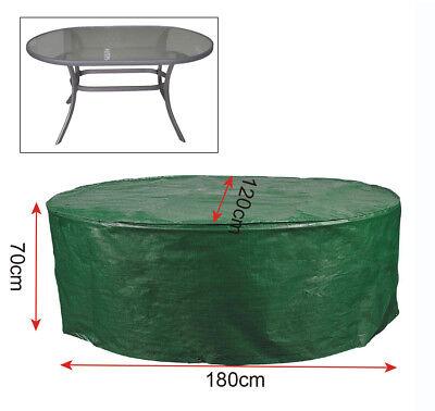 Gartenschutzhülle Abdeckhaube für Gartentisch 180x120x70 cm Transparent GZ1162tp