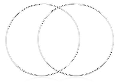 """Ladies Classic 925 Sterling Silver X-Large Round Hoop Fashion Earrings E6-2.75/"""""""
