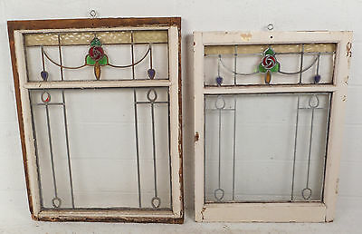 Vintage Stained Glass Window Panel (2920)NJ 4