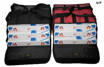 "5 x PIZZA DELIVERY BAG- EXTRA WARM- FULLY INSULATED -  L16.5"" x W16"" x H7"" 2"