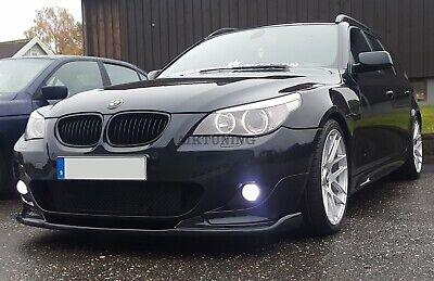Fits BMW E60 E61 M Sport Bumper HM Front Splitter Addon Valance Lip Spoiler