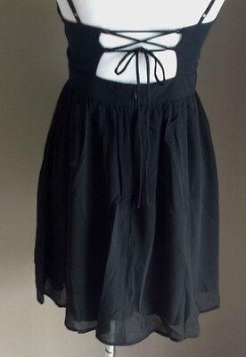 Bulk Lot x 7 NEW Dresses Black Chiffon Lace Up Back Sizes 6 - 12 Styla Label 7