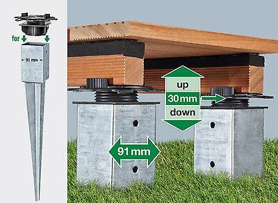 SPAX Freelift Terrassenträger 30 mm höhenverstellbar für Bodenhülsen