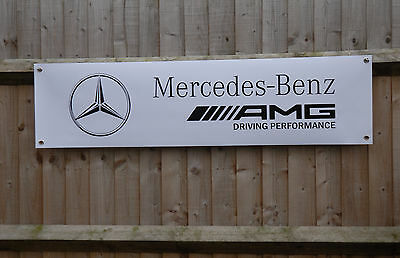 Garage Office Mercedes A45 AMG Banner for Workshop XL Size 2000mm x 500mm