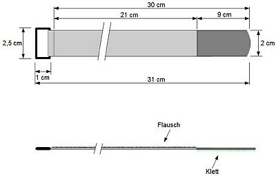 20 x Klettband Kabelbinder 20 cm x 20 mm schwarz Klettbänder Kabelklett mit Öse