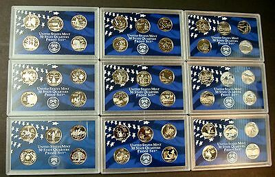 1999-S <> 2008-S Complete Fifty Coin State Quarter Proof Set Collection 10 Sets 4
