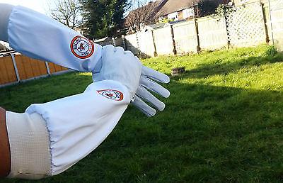 Beekeeper Bee Gloves Beekeeping gloves Goat skin Leather & 100% Cotton XLARGE 5
