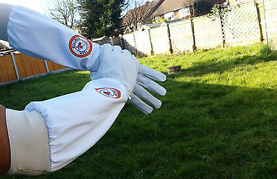 Beekeeper Bee Gloves Beekeeping gloves Goat skin Leather & 100% Cotton LARGE 5