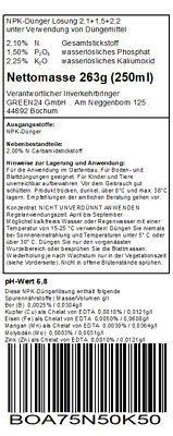 Bonsai-Dünger für Laubgehölze und Koniferen Flüssigdünger für Bonsai Pflanzen 3