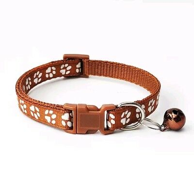 Dog Cat Collar Pet Puppy Kitten Adjustable Harness Neck Strap with Bell 7
