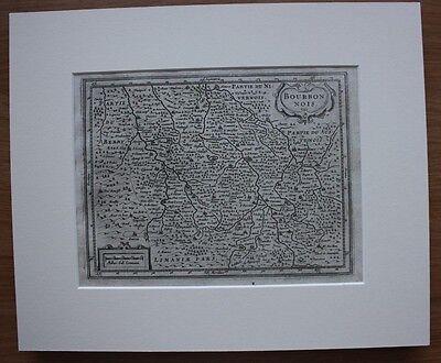 Original antique map FRANCE, 'BOURBONNOIS', MOULINS, Mercator / Jansson 1651 2