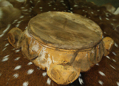 Carved Wooden PEDESTAL Base RISER ARCHITECTURAL Capital Cheese Cake Plant Stand 2