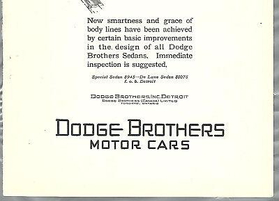 1927 Dodge Brothers advertisement, DODGE Sedan, New body lines