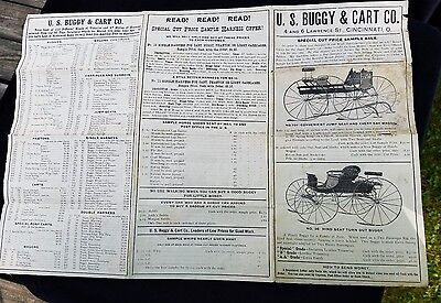 ELVERSON PA Henry Zook/'s Buggies Carriages Surreys Antique Advertising Card Vtg