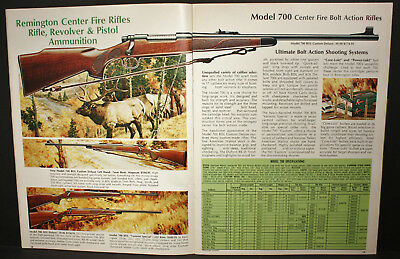 REMINGTON MODEL 700 Bolt Action, Rifle Instruction, Gunsmiths Book & 73  Catalog