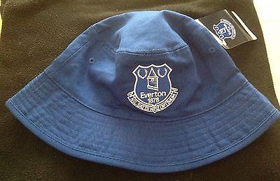 Official Everton Reversible Sun Hat/Fishermans Hat Royal & White Adults 3