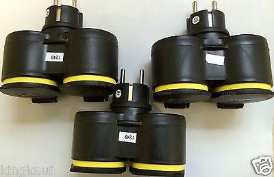 4x GUMMI Doppel Steckdosenverteiler für LED Lichterkette Schuko STECKER,YS XX