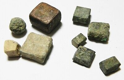 Zurqieh -As10935- Ancient Holy Land. Lot Of 9 Ancient Weights. Mostly Roman 3