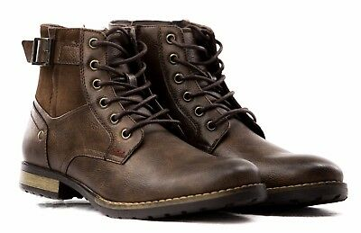 6846c47b017ad ... Stivali Stivaletti Scarpe Uomo Pelle PU Polacchini Anfibi Sneakers  Camperos T45 11