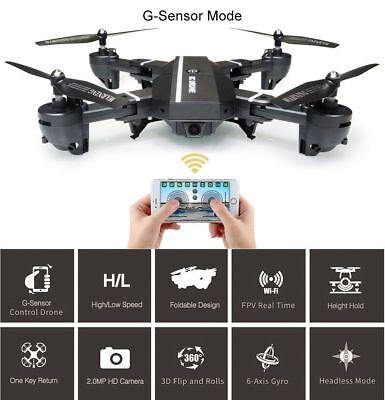 2 Batteries 8807W 2MP 720p HD Wide Angle Camera Stunt Drone