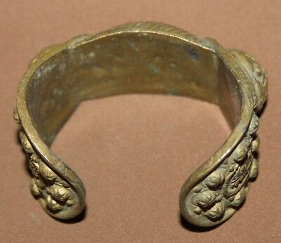 Antique Greek Orthodox brass crusader woman fertility bracelet