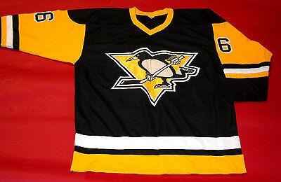 0f7d596754d ... Mario Lemieux Custom Pittsburgh Penguins Throwback Jersey Super Mario 2