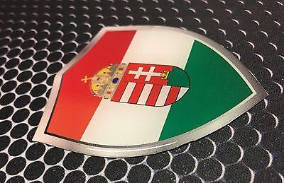 "Hungary Magyarország Proud Shield Domed Decal Emblem Car Sticker 3D 2.3/""x 3.3/"""