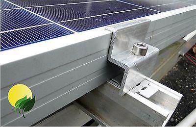 Höhe 34 Mm 2 Stück 34 Mm Modul Endklemme Aluminium Solar Pv Photovoltaik