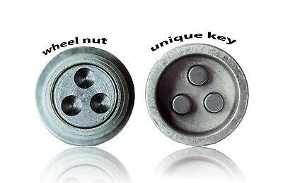 Toyota Rav4 2004-on wheel locking nuts M12x1,5 anti-theft for alloys 3