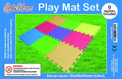 18 Pack Eva Foam Soft Play Mats Interlocking Kids Activity Set Floor 29cm Tiles 8