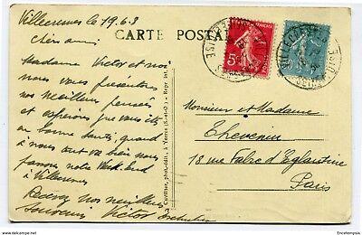 CPA - Carte postale -France -Château de Grosbois - Le Grille d'Honneur 1908