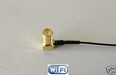 1x RG178 U.FL Mini PCI to Right Angle SMA Pigtail Antenna WiFi Cable 6 Inches US