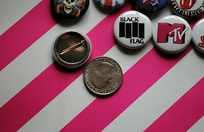 Punk Rock Band Buttons Pins Classic 80s 90s Music 1 Inch Badge Lot 33 Mtv resale 2