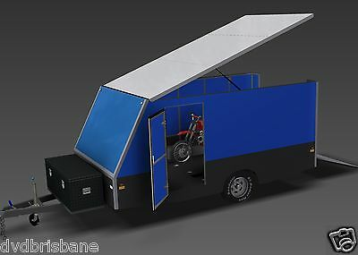 Trailer Plans - 4m ENCLOSED MOTORBIKE TRAILER - PLANS ON CD-ROM 3