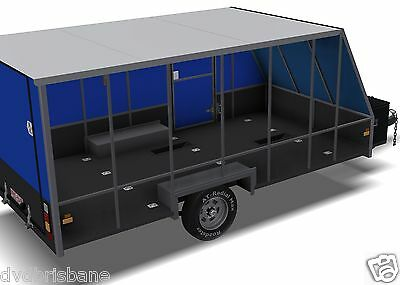Trailer Plans - 4m ENCLOSED MOTORBIKE TRAILER - PLANS ON CD-ROM 7