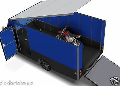 Trailer Plans - 4m ENCLOSED MOTORBIKE TRAILER - PLANS ON CD-ROM 10
