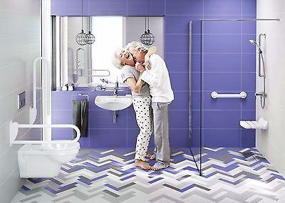 DUSCHSITZ DUSCHKLAPPSITZ bis 150 kg Dusche Sitz Klappsitz Duschhilfe Wand weiß
