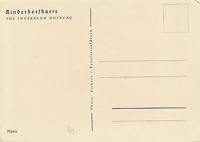Postkarte - SOS Innsbruck Hofburg / Navis