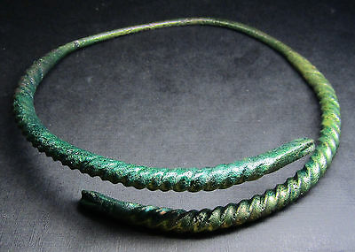 Ancient Viking Neck Torc Snake . 4