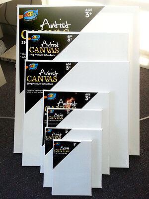 5 x Artist Blank Canvas Assorted Size Large Range Wholesale Bulk Art Supplies 4