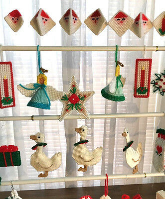 5 of 10 40 handmade plastic canvas christmas ornaments - Plastic Canvas Christmas Ornaments