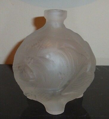 Impressive Czech Frosted Ingrid Fish Perfume Bottle 1930s 3
