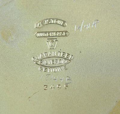 American Elgin 8 Day Travel Clock Keystone case body Gilt silveroid Leather case 3