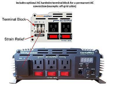 VertaMax 3000 Watt (6000W) Pure Sine Wave Power Inverter 12V Battery RV, Solar 2