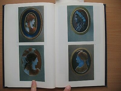 Russian Book Antique Cameo Art Old Miniature Portrait Stone Vintage Antique VTG 6