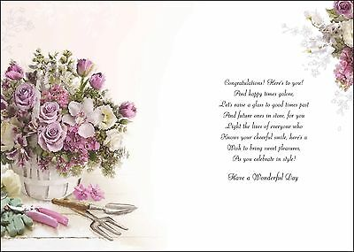 Happy 70th Birthday Card Female 70 Lovely Verse Luxury Made In