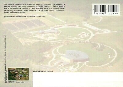 Bethel New York Site of Woodstock Festival 1969, Performing Arts Center Postcard 2