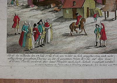 Berlin, Gendarmenmarkt, Deutscher Dom, Einsturz 1781, Gontard, Riedel  ~1782